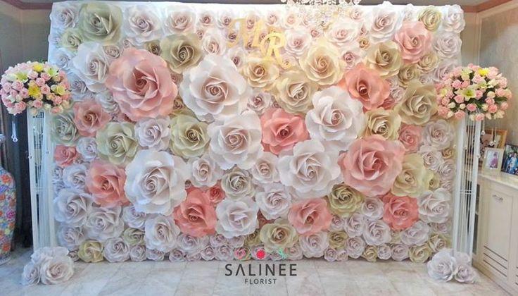 Lindas flores gigantes for Mural de fotos en cartulina
